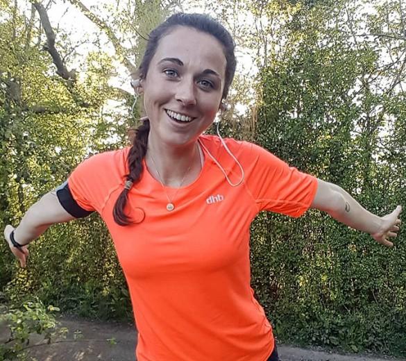 woman, runner, smiling