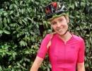 female, cyclist, smiling