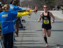 man running in endurance event